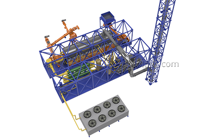Continuous Thermal Decomposition Plant (TDP-2-2000)