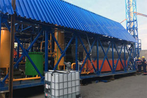 Automobile shredder residue pyrolysis plant