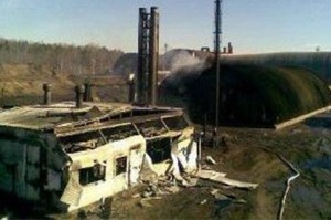 Pyrolysis accident in oil sludge treatment plant