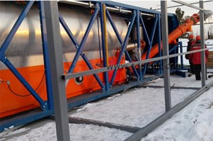 Drilling waste utilization started directly at the oil well pad