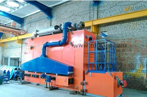 Thermolysis pipe cleaning plant assembled at the Client's production site